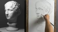 素描石膏像,第04部 - 完整版15分钟,巴特农素描视频