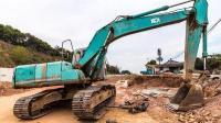 挖掘机挖土 挖掘机动画片 挖掘机水上视频表演