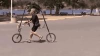 这自行车奇葩! 把双腿当做引擎, 靠双腿就能风驰电掣, 很过瘾!