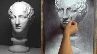 素描石膏像,第06部 - 快进版03分钟,巴特农素描视频