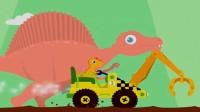 恐龙挖掘机 超级英雄寻宝 小恐龙历险记 勇闯恐龙岛 挖掘机总动员 陌上千雨解说