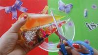 史莱姆新创意, 自制珍珠液态玻璃裱花袋泥, 好玩解压不粘手