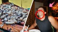 """菲律宾最恐怖美食""""树虫""""跟鼻涕和蚯蚓一样恶心"""