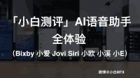「小白测评」AI语音助手全体验(Bixby 小爱 Jovi Siri 小欧 小溪 小E)