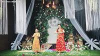 今天与月儿的同台演出的这支印度舞, 舞台美, 灯光美, 裙子美
