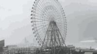 """日本遭遇超强台风 摩天轮变""""大风车"""""""