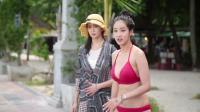 韩国小姐李英仁超级模特高艺瑟的普赛克岛跳水