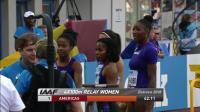 2018 国际田联洲际杯 女子4x100米接力 (美洲42.11)