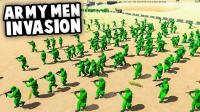 小飞象解说✘战地模拟器 绿色玩具士兵大作战 绝地求生迫击炮重出江湖