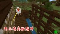 我的世界第二季158: 我把黑曜石陷阱改装之后, 首先用小鸡做实验