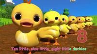 小鸭子数数 卡通动漫 趣味动画儿歌 童谣 少儿早教启蒙英语 儿童歌曲