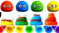 蛋糕制作学儿童英语ABC玩具恐龙坐火车少儿英语ABC管道里的形状英语ABC英语儿歌