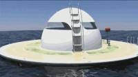 """罕见! 老外设计的海上""""飞碟""""游艇, 堪称移动的豪华海景房"""