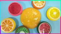 香橙少女心果冻泥自制水晶泥, 魔法玉米粒可以做色素的水晶泥史莱姆