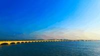 """航拍上海青浦淀山湖""""彩虹桥"""""""