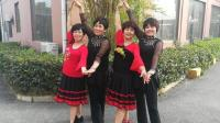 菱湖美景姐妹广场舞双人舞中三《五彩云霞》2018年最新广场舞带歌词