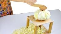 小伙在家自制白菜切片机, 轻巧方便实用, 厨房的好帮手!