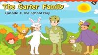 Little Fox小狐狸英语动画  卡特家庭3  学校的演出  日常英文口语