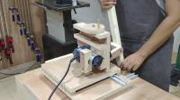晖木工坊-自制开榫机雏形机