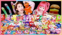 凯利和星德拉挑战吃遍全世界各地的软糖 | 凯利和玩具朋友们 CarrieAndToys