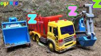 汽车挖掘机和动物玩具试玩, 婴幼儿宝宝玩具游戏视频A692