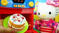 hello kitty凯蒂猫吃寿司厨房过家家儿童玩具故事