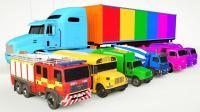 大货车带来很多小汽车工程车挖掘机搅拌机自卸卡车玩具