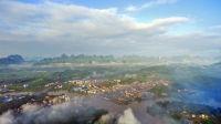 航拍怀远云里雾里