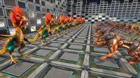 方舟生存进化 最强传说生物选拔赛! 30只地狱犬 VS 30只鸡头蛇
