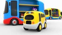 小巴士玩具汽车儿童英语惊喜礼物少儿英语abc