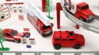 积木组装小赛车玩具展示