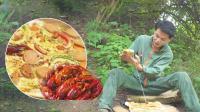 秘制拉丝一米长的小龙虾披萨, 口口都是肉, 吃着太过瘾了!