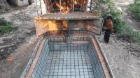 原始技术, 两兄弟徒手建造游泳池, 实在太完美了!