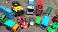 挖掘机和拖车发现汽车玩具, 婴幼儿宝宝玩具游戏视频F12