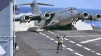 运输机原来还能在航母上起降, 美军C-130大力神运输机刷记录