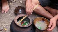 荒野生存 生存哥 原始技能 烹饪美食的鱼汤