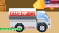 看动画认识工程车辆与工作车辆 家中的美国学校