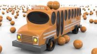 碰碰车玩具形状游戏的惊喜儿童英语abc少儿英语abc