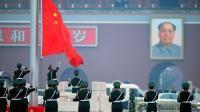 凌晨四点的北京天安门升旗仪式人山人海