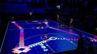 世界上最酷炫的篮球场, LED屏做地板, 追踪球员风骚走位!