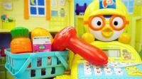 小企鹅波鲁鲁的卡通收银机玩具