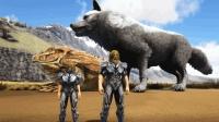 方舟生存进化-巨型魔鬼蛙和巨狼VS鳄鱼BOSS