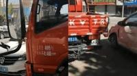 越野车挡路不愿挪 卡车司机连怼5次撞开路
