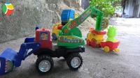 汽车挖掘机和火车玩具试玩, 婴幼儿宝宝玩具游戏视频F35