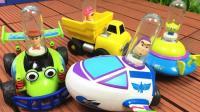 迪士尼玩具总动员系列胡迪巴斯光年神奇跳跳车