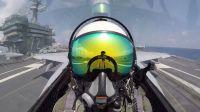 世界最强舰载机F-35C第五代隐身舰载机最新飞行测试-林肯号核动力航空母舰