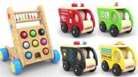 不同种类的小汽车玩具展示