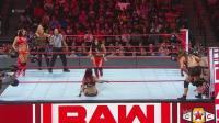 【RAW 09/24】贝拉姐妹娜塔莉亚迎战暴动小队 茹比莱尔特一脚扭转败局