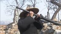 鬼子守着炮楼火力太猛,游击队找来鸭枪,几枪把鬼子给炸开了花