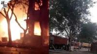 一死四伤! 北京通州两车相撞起火